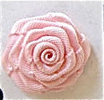 Flower Pink Satin Rose 7/8""