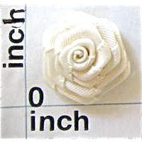 "Flower White Satin Rose 7/8"" and 1/2"""
