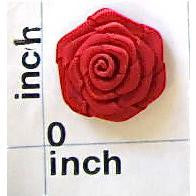 Flower Red Satin Rose 7/8""