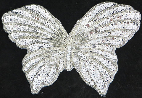 "5 PACK Butterfly with Silver Sequins and Beads  6"" x 9"""