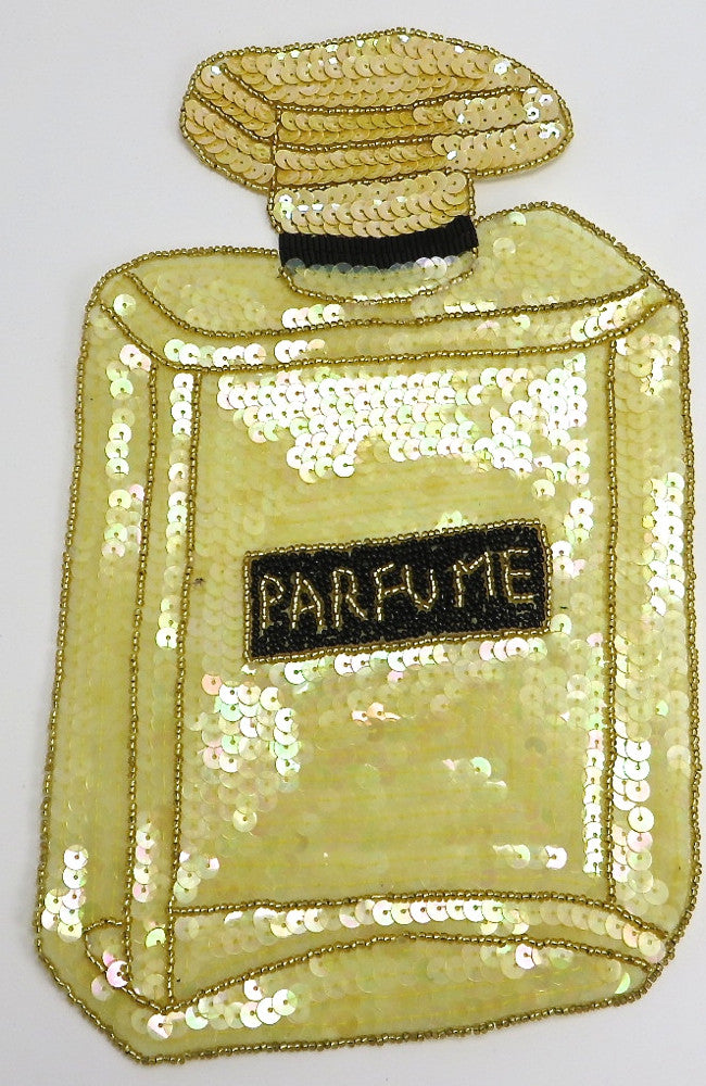 "Perfume with Yellow Sequins and Beads 11"" X 7"""