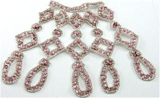 "Designer Motif with Pink Sequins and Beads 6.5"" x 7.5"""