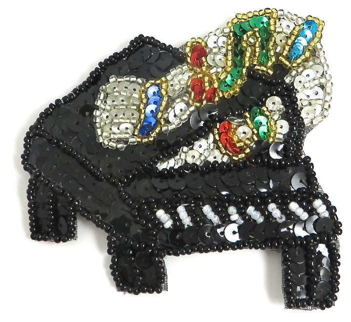 Piano with Multi-Colored Sequins and Beads 3