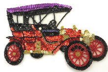 "Load image into Gallery viewer, Car Vintage Model T style, Multi-Color Sequins/Beads 5.5"" x 7.5"""