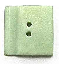 Button Lite Soft Green with Groove Two Holes 3/4""