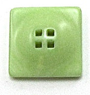 Button Lite Lime Green with Raised Top and Four Holes 1/2""