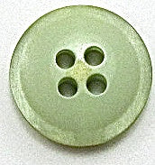 Button Lime Green with Four Holes 1/2""