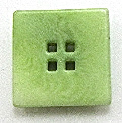 Button Lime Green with Four Holes 3/4""
