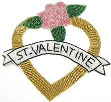 "Load image into Gallery viewer, ST. VALENTINE Applique all Beads 9"" x 9"""