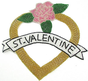 "ST. VALENTINE Applique all Beads 9"" x 9"""