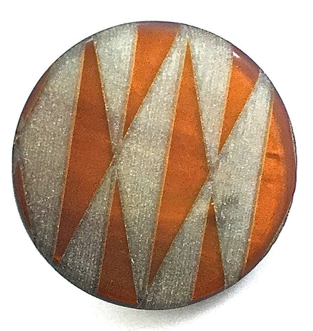 "Button Two Sizes Orange and Grey 1"" and 3/4"""