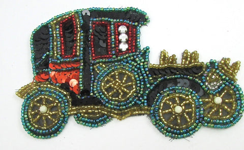 "Ford Old Model T with Multi-Colored Sequins and Beads 3"" x 5"""
