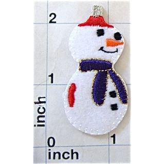 "Snowman Embroidered, 2.5"" x 1"""