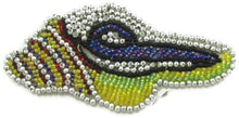 "Load image into Gallery viewer, Seashell with Multi-Colored Beads 4.5"" x 2.25"""