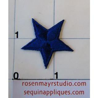 Star, Royal Blue Embroidered Iron-On  1.25""