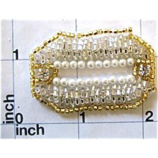 Motif Pearl Accent with Gold and Pearls