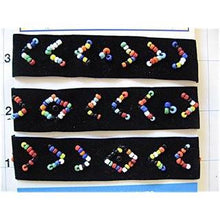 "Load image into Gallery viewer, Trim Velvet with Southwestern Beads 18"" Length .75"" Wide"