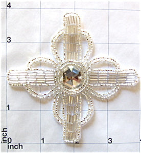 Cross Celtic with faux Gem Center 4""