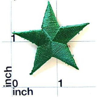 Star, Green Embroidered Iron-On  1.5