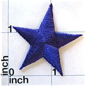 Star, Navy Blue Embroidered Iron-On  1.5""