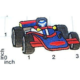 Race Car Embroidered Iron-on 3""
