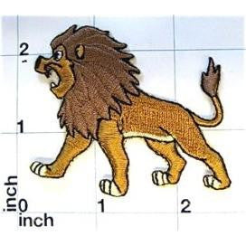 "Roaring Lion Embroidered Iron-on  2.5"" x 2"""