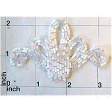Load image into Gallery viewer, Designer Motif with White Bugle Beads   3.25""