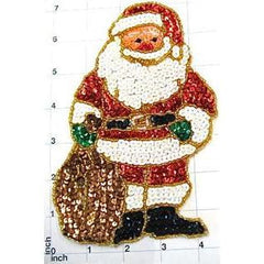 "Santa with Santa Bag  12"" patch or Just Santa 7"" X 4.75"""