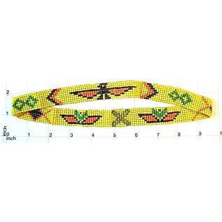 Headband Southwestern Colors: yellow/orange/black.  19""
