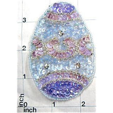 "Load image into Gallery viewer, Easter Egg Sequin Beaded  3.5"" x 2.5"""
