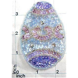 Easter Egg Sequin Beaded  3.5