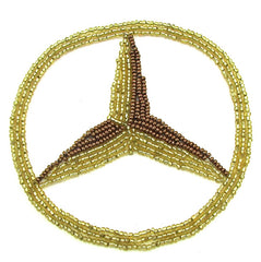Mercedes Embem Gold Beads