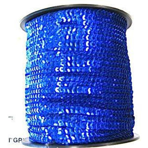 Sequins by the Yard One Row Trim 3 Yards Each Blue Sequins 1/4""