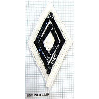 Motif Diamond Shape Black and White 5