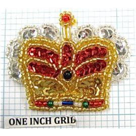 "Crown Multi-Colored 2"" x 2"""