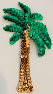 "Palm Tree THREE CHOICES OF COLOR Lime, Green, Turquoise  5.5"" X 3"""