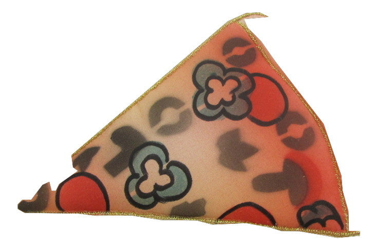 "Pizza Slice Embroidered Applique 3"" x 5"""