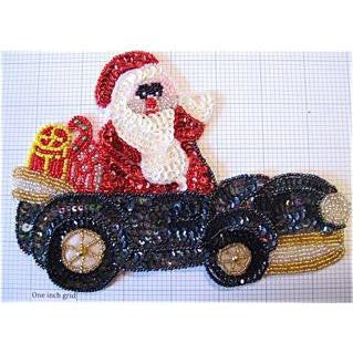 "Santa Riding in a Black Car 7"" X 5"""
