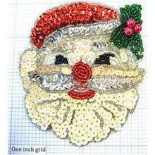 "Load image into Gallery viewer, Santa Face 4"" x 3.5"""