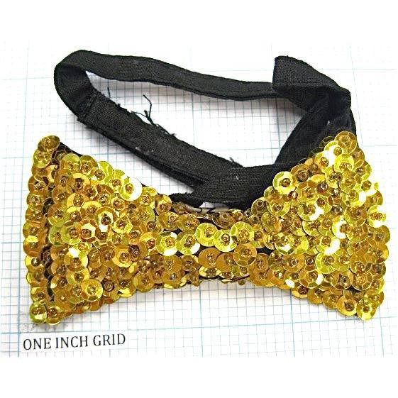 Bowtie Gold with Strap for Neck 4.15""