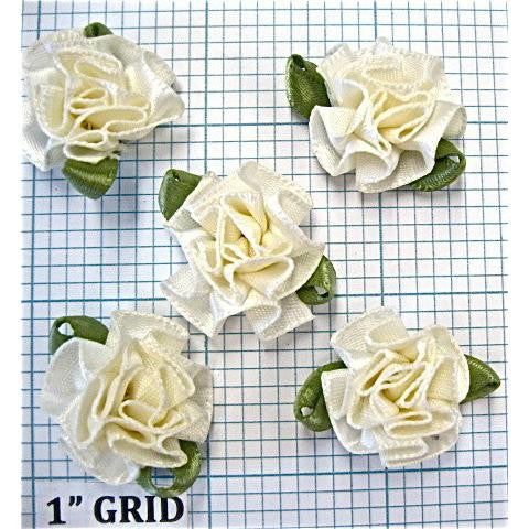 Flower Set of 5 Satin Cabbage Rose