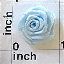 Flower Blue Satin Rose 7/8""
