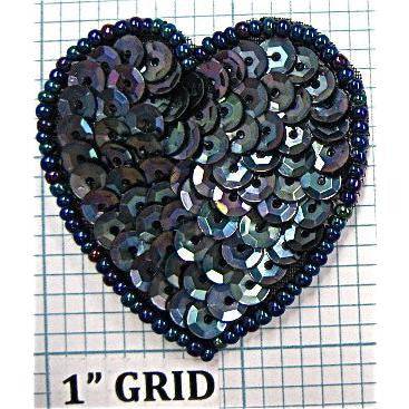 Heart Moonlite Sequins and Beads  1.5""