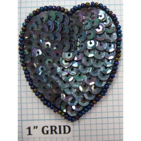 Heart Moonlite Sequins and Beads 2""