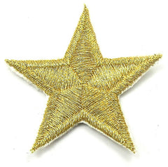 Star Gold Embroidered 1.75""