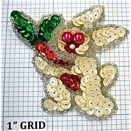 "Rabbit with Fuchsia Eye Beads 2.3"" x 2.75"""