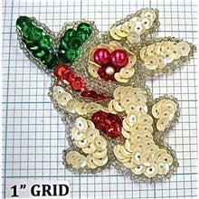 "Load image into Gallery viewer, Rabbit with Fuchsia Eye Beads 2.3"" x 2.75"""