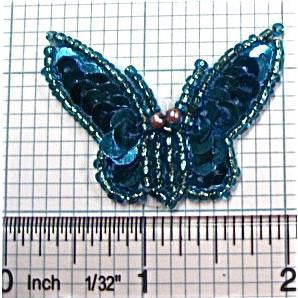 "Butterfly Turquiose Small Sequin 1.25"" x 1.75"""