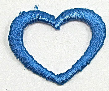 "Heart Blue Iron-on 1"" x 1"""