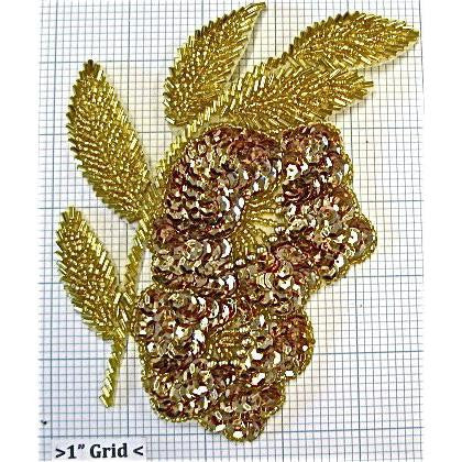 "Flower Double Gold 6.5"" x 5"""